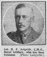 Askwith H F Col CMG Royal Field Artillery The Graphic 5th Oct 1918