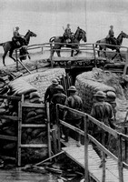 A Communication Trench Bridged For Cavalry To Cross On The Western Front