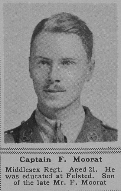 UK Photo Archive: M &emdash; Moorat F Captain 4th Middx Regt The Sphere 19th Oct 1918
