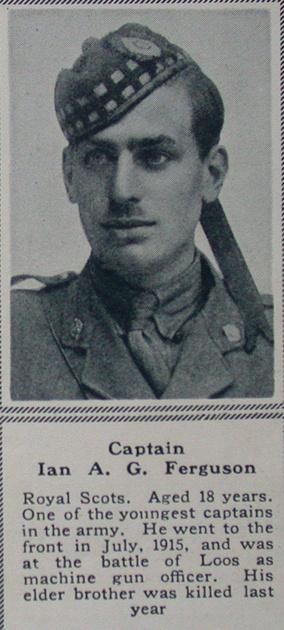 UK Photo Archive: F &emdash; Ferguson I A G Captain Royal Scots The Sphere 1st July 1916