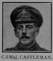 Castleman CSM 6th London Regiment Cast Iron Sixth - Captain E G Godfrey 1938