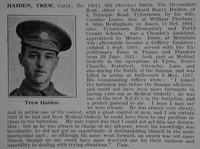 Haiden T Cpl 9th Devonshire Regt Obit De Ruvignys Roll Of Honour Vol 3