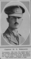 Kekewich H L Captain Yeomanry The Sphere 19th Jan 1918