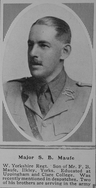 UK Photo Archive: M &emdash; Maufe S B Major 11th West Yorkshire Regiment (Prince of Wales's Own) The Sphere 12th Aug 1916