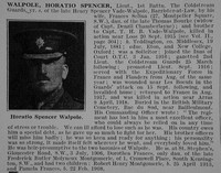 Walpole H S Lt 1st Coldstream Guards Obit De Ruvignys Roll Of Honour Vol 3