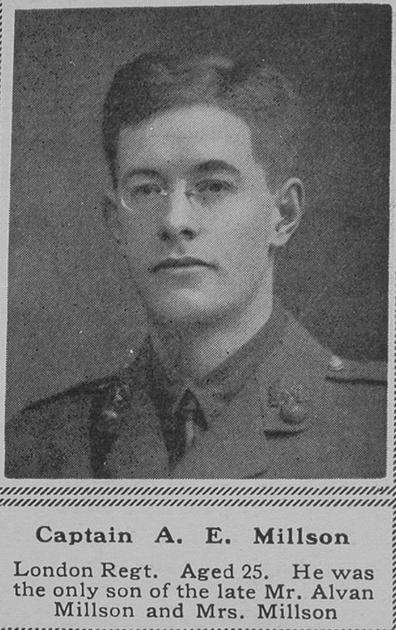 UK Photo Archive: M &emdash; Millson A E Captain 4th London Regt The Sphere 16th June 1917