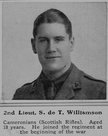 UK Photo Archive: W &emdash; Williamson S de T 2nd Lt 2nd Cameronians The Sphere 17th Apr 1915