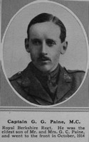 Paine G G Captain MC R Berks Regt The Sphere 18th May 1918