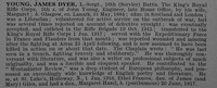 Young J D L/Sergt R/36188 16th King's Royal Rifle Corps Obit De Ruvignys Roll Of Honour Vol 4