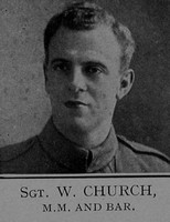 Church W Sergt MM + Bar 6th London Regiment Cast Iron Sixth - Captain E G Godfrey 1938
