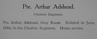 Adshead A Pte Cheshire Regiment Record William Graham Company