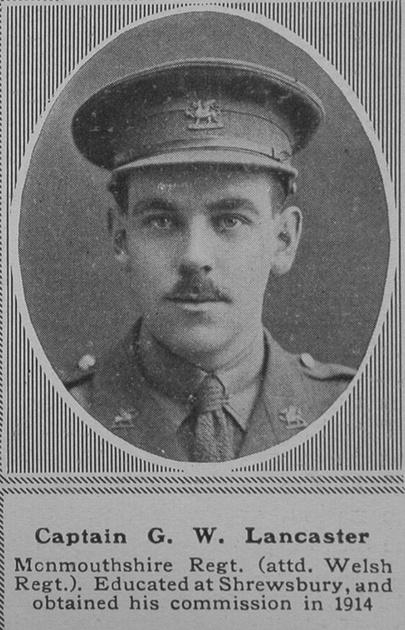 UK Photo Archive: L &emdash; Lancaster G W Captain MC 3rd Monmouthshire Regt The Sphere 19th Oct 1918