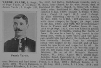 Yarde F LSergt 3197 3rd Coldstream Guards Obit De Ruvignys Roll Of Honour Vol 1