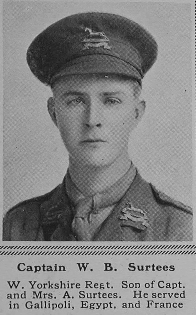 UK Photo Archive: S &emdash; Surtees W B Captain 9th West Yorkshire Regiment (Prince of Wales's Own) The Sphere 10th Feb 1917