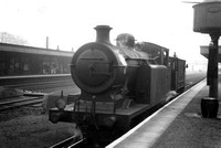 A Steam Train At Cheam Station Surrey 1950s