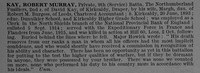 Kay R M Pte 12188 9th Northumberland Fusiliers Obit De Ruvignys Roll Of Honour Vol 4