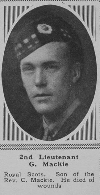 UK Photo Archive: M &emdash; Mackie G 2nd Lt Royal Scots The Sphere 24th Nov 1917