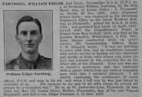 Farthing W E 2nd Lt RGA Obit De Ruvignys Roll Of Honour Vol 3
