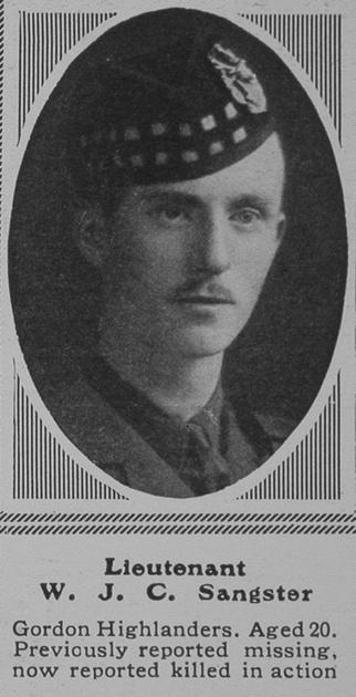 UK Photo Archive: S &emdash; Sangster W J C Lt 4th Gordon Highlanders The Sphere 15th Apr 1916