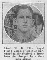 Ellis W B Lt Royal Flying Corps The Graphic 25th July 1916