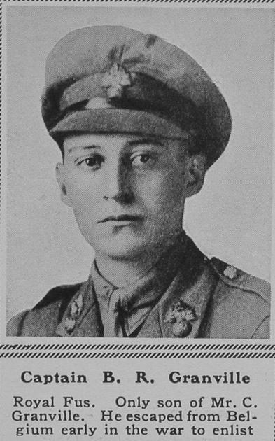 UK Photo Archive: G &emdash; Granville B R Captain 7th Royal Fusiliers The Sphere 30th June 1917