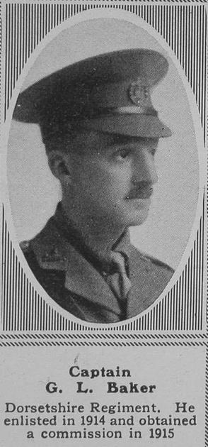 UK Photo Archive: B &emdash; Baker G L Captain 1st Dorset Regt The Sphere 28th Sep 1918