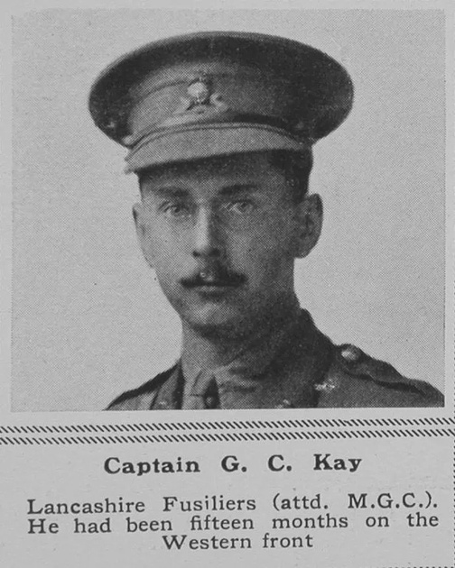 UK Photo Archive: K &emdash; Kay G C Captain 5th Lancashire Fusiliers The Sphere 25th May 1918