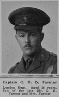 Farmar C H B Captain 10th London Regt The Sphere 23rd June 1917