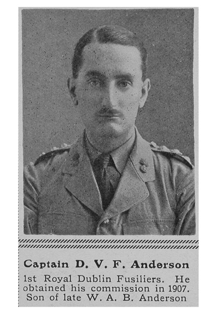 UK Photo Archive: A &emdash; Anderson D V F Captain 1st Royal Dublin Fusiliers The Sphere 11th Sep 1915