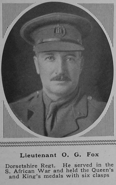 UK Photo Archive: F &emdash; Fox O G Lt 1st Dorsetshire Regiment The Sphere 17th Mar 1917
