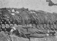 A British Soldier Sleeping On A Bed Of Live Shells