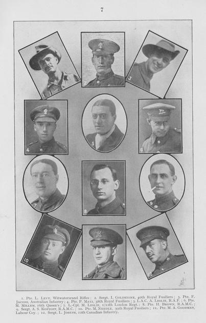 UK Photo Archive: British Jewry Book Of Honour 1914-1918 &emdash; British Jewry Book Of Honour Page 7