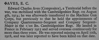 Aves E C CSM 21926 Machine Gun Corps Obit War Record Of Cambridge University Press