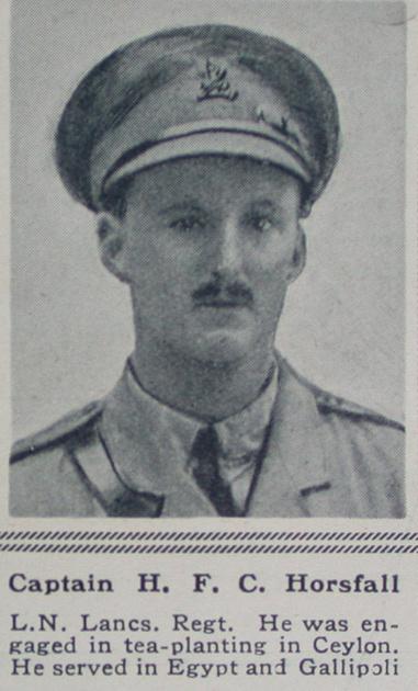 UK Photo Archive: H &emdash; Horsfall H F C Captain Loyal North Lancs Regt The Sphere 1st July 1916