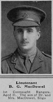 MacDowel B G Lt 1st Connaught Rangers The Sphere 4th Dec 1915