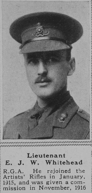 UK Photo Archive: W &emdash; Whitehead E J W Lt RGA The Sphere 20th Mar 1919