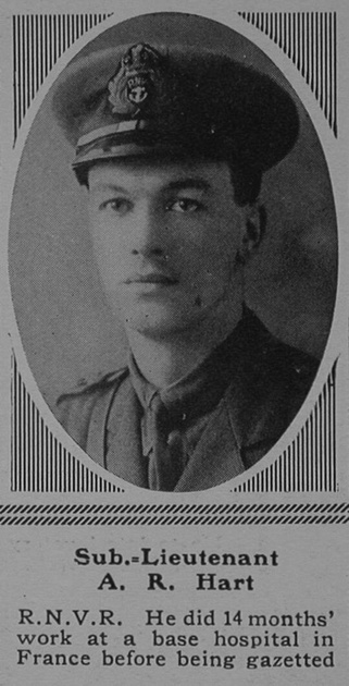 UK Photo Archive: H &emdash; Hart A R Sub Lt Hood Bn. R.N. Div. Royal Naval Volunteer Reserve The Sphere 17th Feb 1917