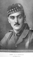 Chisholm A E Lt 10th Royal Scots Downside In The War