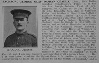 Jackson G O D C Lt 10th CEF Obit Part 1 De Ruvignys Roll Of Honour Vol 3