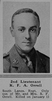 Orrell K F A 2nd Lt 10th Attd 6th South Lancashire Regiment The Sphere 24th Feb 1917