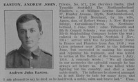 Easton A J Pte 21st Northumberland Fusiliers Obit De Ruvignys Roll Of Honour Vol 3