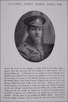 Albon A G LCpl MM 28408 8th Kings Own Northern Assurance Co War Record