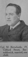 Birtwistle M Senior Reserve Attendant M10068 H.M. H.S.Rohilla Royal Navy Craven Roll Of Honour