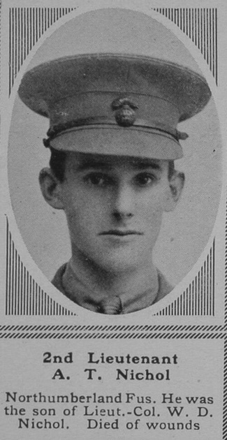 UK Photo Archive: N &emdash; Nichol A T 2nd Lt 15th Northumberland Fusiliers The Sphere 23rd June 1917
