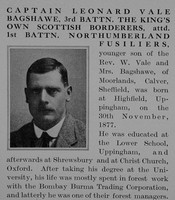 Bagshawe L V Captain 3rd Kings Own Scottish Borderers Obit Part 1 The Bond Of Sacrifice Vol 2