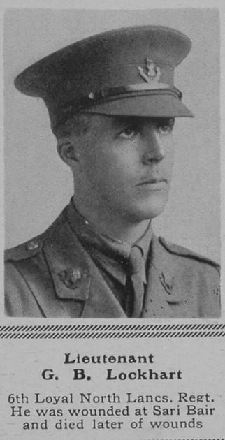 UK Photo Archive: L &emdash; Lockhart G B Lt 6th Loyal North Lancs Regt The Sphere 5th Feb 1916