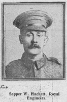 Hackett W Sapper VC Royl Engineers The Graphic 7th Aug 1916