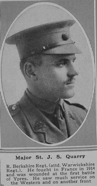 UK Photo Archive: Q &emdash; Quarry St J S Major 3rd R Berks Regt The Sphere 6th July 1918