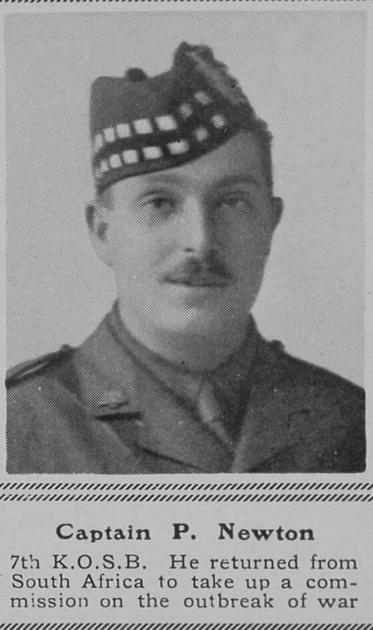 UK Photo Archive: N &emdash; Newton P Captain 7th KOSB The Sphere 6th Nov 1915