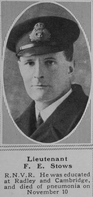 UK Photo Archive: S &emdash; Stows F E Lt RNVR The Sphere 8th Feb 1919